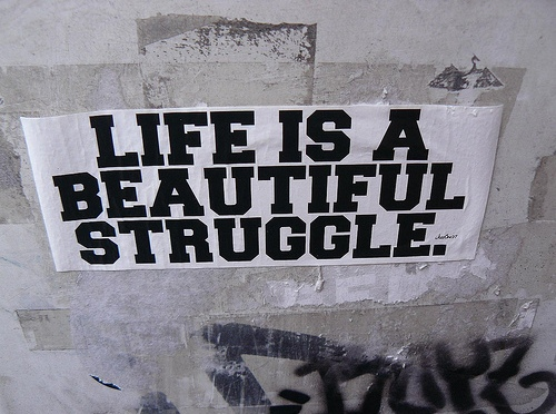 Fantasy must be a struggle with life
