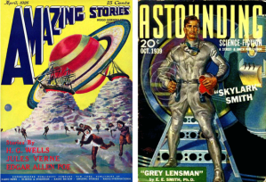 Pulps from the 1920's and 30's like Amazing Stories and Astounding set the foundational ideas for science fiction that would strongly influence later works in the genre. (Images: Public Domain)