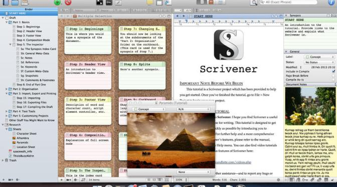 Why Scrivener is every indie author's very best friend