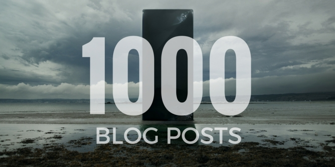 This is my 1000th blog post