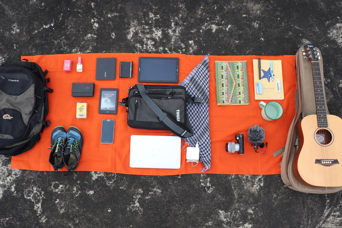 What does a nomad writer pack for 4 years on the road?