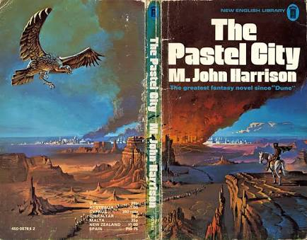 How does M John Harrison enter a story?